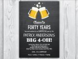 40th Birthday Party Invitations for Men 40th Birthday Invitation 40th Birthday Invitation for Men