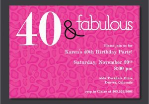 40th Birthday Party Invitations Online Free Printable Invitation Template