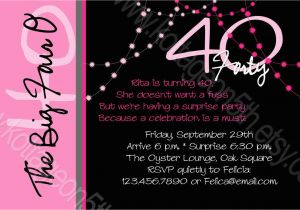 40th Birthday Party Invitations Online Invitation Wording Oxsvitation Com