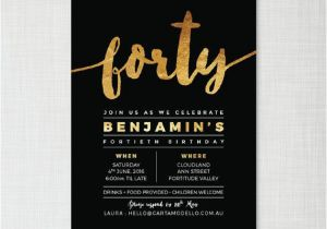 40th Birthday Party Invitations Online Birthday Invitation Templates 40th Birthday Invitation