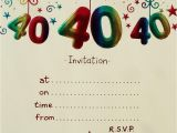 40th Birthday Party Invites Free Templates 40th Birthday Invitation Templates Free Download Best