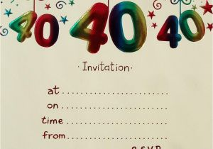 40th Birthday Party Invites Free Templates Invitation Download Best