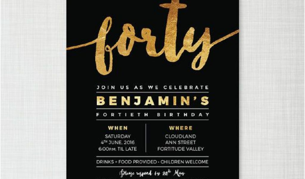 Download By SizeHandphone Tablet Desktop Original Size Back To 40th Birthday Party Invites Free Templates