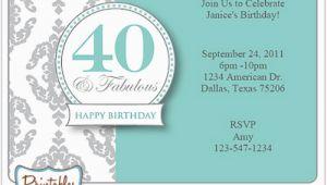 40th Birthday Party Invites Free Templates Surprise 40th Birthday Invitation Free Template