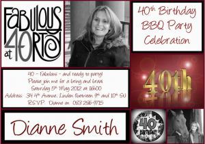 40th Birthday Photo Invitations 40th Birthday Invitation Invitations Pinterest 40th