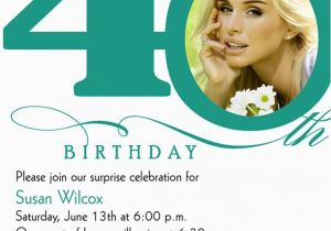 40th Birthday Photo Invitations 40th Birthday Invitation Wording Bagvania Free Printable