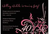 40th Birthday Photo Invitations Cabiri Pink 40th Birthday Invitations Paperstyle