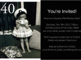 40th Birthday Photo Invitations Free Printable Surprise 40th Birthday Invitations