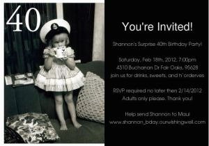40th Birthday Photo Invitations Free Printable Surprise 40th Birthday Invitations