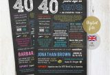 40th Birthday Present for Him Uk Uk Fun Facts 1978 Personalized 40th Birthday Gift for Wife