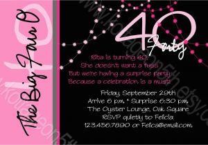 40th Birthday Sayings For Invitations Invitation Wording Oxsvitation Com