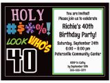 40th Birthday Sayings for Invitations Free Printable 40th Birthday Party Invitations Templates