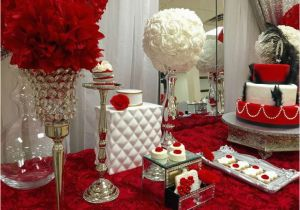 40th Birthday Table Decoration Ideas Red Roses Party Dessert Tables On Catch
