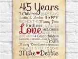 45th Birthday Gifts for Husband Anniversary Gift for Parents 45 Year Anniversary 45th Year
