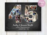 45th Birthday Gifts for Husband Photo Collage 45th Anniversary Gift for Wife Husband Daughter