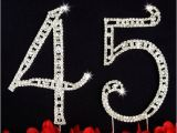 45th Birthday Party Decorations 45th Birthday Wedding Anniversary Number Cake topper Large