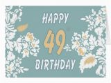 49th Birthday Card 49th Birthday Cards Photocards Invitations More