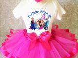 4th Birthday Girl Outfits Frozen Elsa Anna Princess Hot Pink Girl 4th Birthday Tutu
