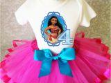 4th Birthday Girl Outfits Princess Moana Hot Pink Blue Girl 4th Fourth Birthday Tutu