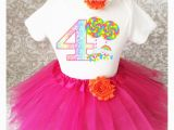 4th Birthday Girl Outfits Rainbow Candyland Candy 4th Fourth Birthday Tutu Outfit