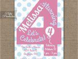 4th Birthday Invitation Cards 4th Birthday Invitations Printable Fourth Birthday