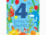 4th Birthday Invitation Cards 4th Birthday Party Supplies Party Delights