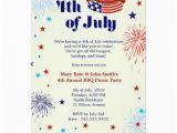 4th Birthday Invitation Cards 4th Of July Bbq Picnic Invitation Party Invitation Card