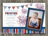 4th Birthday Invitation Cards Printable 4th Of July Birthday Invitation Kids July