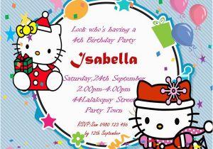 4th Birthday Invitation Templates 30 Attractive Free Hello Kitty Invitations That You Will