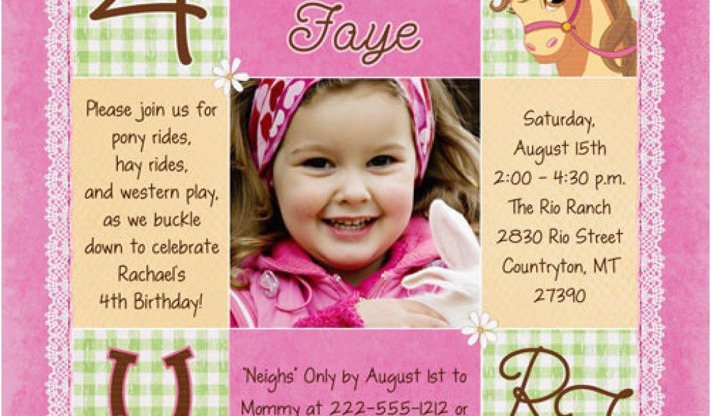 4th Birthday Party Invitation Wording 4th Birthday Party Invitation