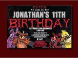 5 Nights at Freddy S Birthday Invitations Five Nights at Freddy 39 S Birthday Invitation by