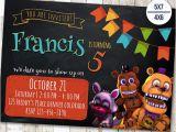 5 Nights at Freddy S Birthday Invitations Five Nights at Freddy 39 S Invitation Five Nights