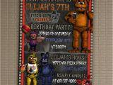 5 Nights at Freddy S Birthday Invitations Five Nights at Freddy 39 S Invitation You Print Invitation