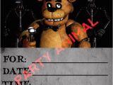 5 Nights at Freddy S Birthday Invitations Five Nights at Freddy 39 S Party Invitation Instant Download