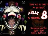 5 Nights at Freddy S Birthday Invitations Five Nights at Freddys Birthday Invitations