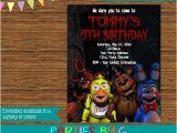 5 Nights at Freddy S Birthday Invitations Five Nights Freddy Birthday Party Invitations Personalized