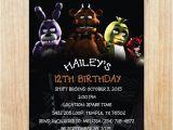 5 Nights at Freddy S Birthday Invitations Printable Five Nights at Freddy 39 S Invitation Five Nights