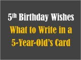 5 Year Old Birthday Card Messages 5th Birthday Messages Wishes and Poems Holidappy
