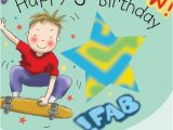 5 Year Old Birthday Card Messages Age 5 Birthday Card for Boys Skateboard Tw647