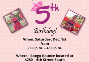 5 Year Old Birthday Invitation Rhymes Wording Dolanpedia