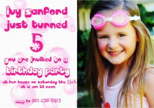 5 Year Old Birthday Party Invitation Wording Years Invitations Free