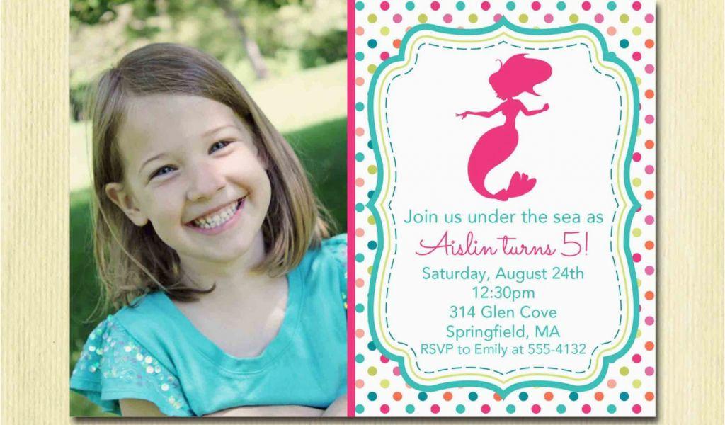 5 Year Old Birthday Party Invitation Wording Mermaid