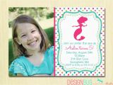5 Year Old Birthday Party Invitation Wording Mermaid Birthday Invitation 1 2 3 4 5 Year Old Any Age