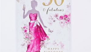 50 and Fabulous Birthday Cards 50th Birthday Card Fifty Fabulous Only 99p