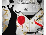 50 and Fabulous Birthday Cards Fabulous 50 50th Birthday Party Deco Lady Red 2 Card