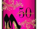 50 and Fabulous Birthday Decorations Dancing Shoes Fabulous 50th Birthday Invitation