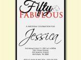 50 and Fabulous Birthday Invitations Chevron 50th Birthday Invitation 50 and Fabulous by