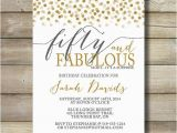 50 and Fabulous Birthday Invitations Fifty and Fabulous Birthday Invitation Any by
