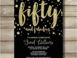 50 and Fabulous Birthday Invitations Fifty and Fabulous Birthday Invite 50 Fifty forty Sixty