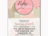 50 and Fabulous Birthday Invitations Fifty and Fabulous Pink 50th Birthday Invitation by